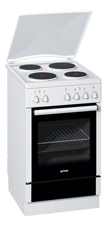 Электрическая плита GORENJE E52102AW1,  эмаль,  белый