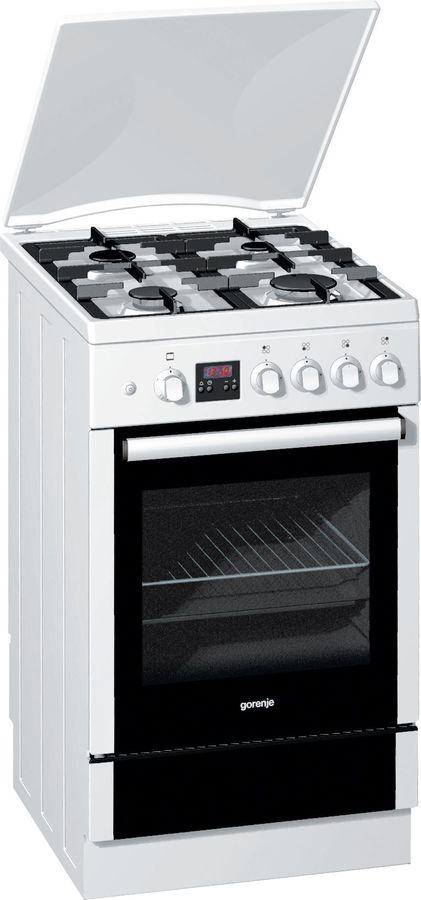 Газовая плита GORENJE GI52329AW,  газовая духовка,  белый