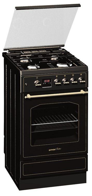 Газовая плита GORENJE GI52339RBR,  газовая духовка,  черный графитовый