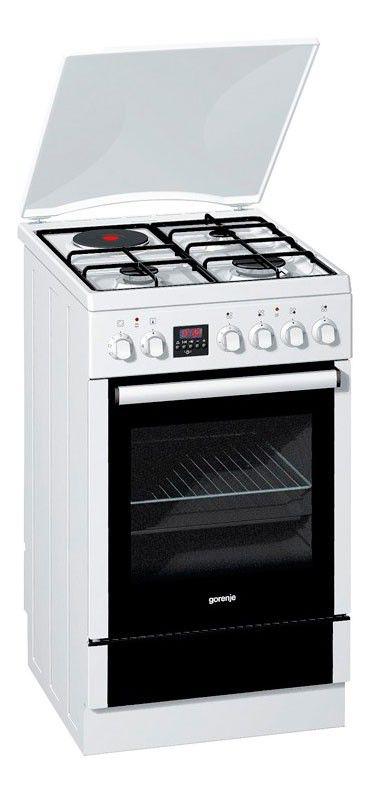 Газовая плита GORENJE K55303AW,  электрическая духовка,  белый