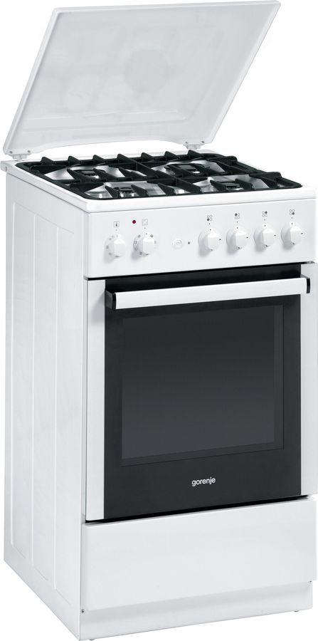 Газовая плита GORENJE KN55120AW,  электрическая духовка,  белый