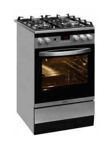 Газовая плита HANSA FCGX 59053050,  газовая духовка,  серебристый