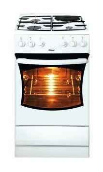 Газовая плита HANSA FCMW 52006010,  электрическая духовка,  белый