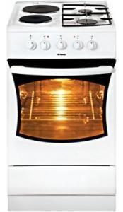 Газовая плита HANSA FCMW 52007010,  электрическая духовка,  белый