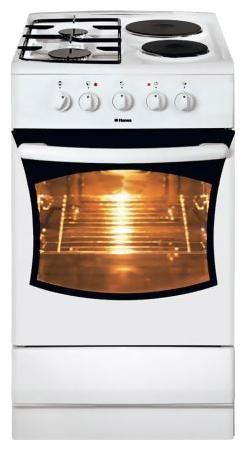 Газовая плита HANSA FCMW 52009010,  электрическая духовка,  белый