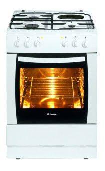 Газовая плита HANSA FCMW 63008010,  электрическая духовка,  белый