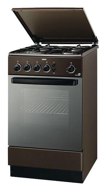Газовая плита ZANUSSI ZCG 564 GM,  газовая духовка,  коричневый [zcg564gm]