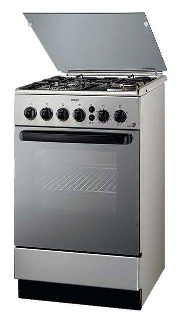 Газовая плита ZANUSSI ZCG 565 GX,  газовая духовка,  серебристый [zcg565gx]