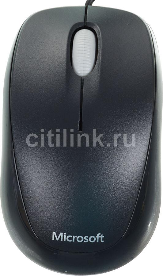 Мышь MICROSOFT Compact 500 оптическая проводная USB, черный [4hh-00002]