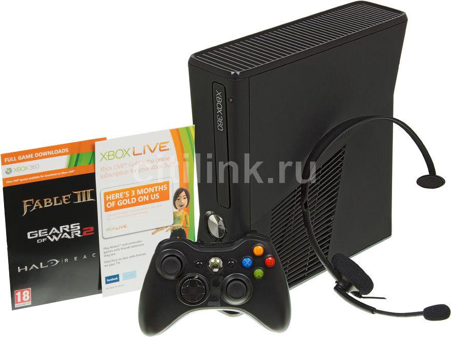Игровая консоль MICROSOFT Xbox 360 R9G-00108, черный