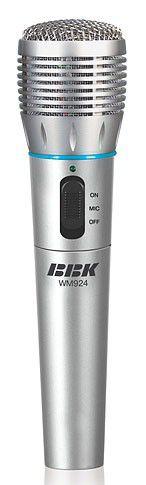 Микрофон BBK WM924,  серебристый