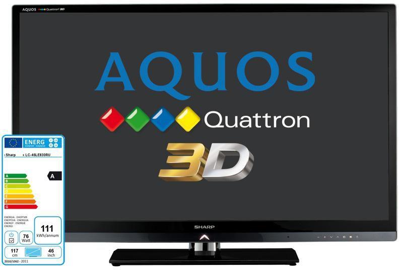 LED телевизор SHARP Aquos LC-46LE830RU Quattron  46