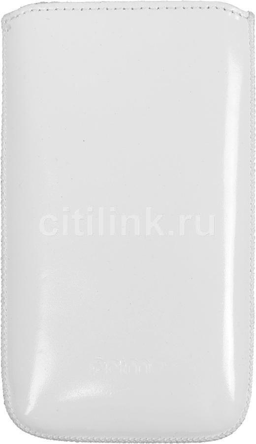 Чехол (футляр) DEPPA Prime Classic, для LG P500, белый (лак) [062]