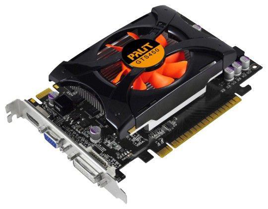 Видеокарта PALIT GeForce GTS 450,  1Гб, DDR3, Ret [neas450dhd01-116xf]