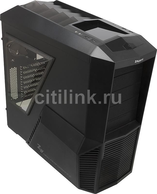 Корпус ATX ZALMAN Z11 PLUS, Midi-Tower, без БП,  черный