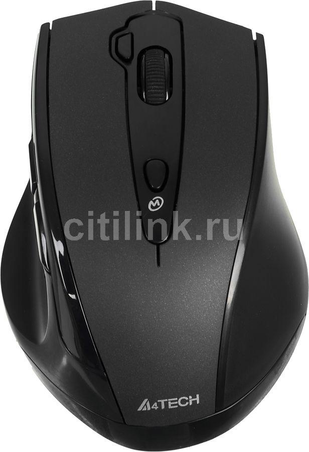 Мышь A4 V-Track G10-810F, оптическая, беспроводная, USB, черный