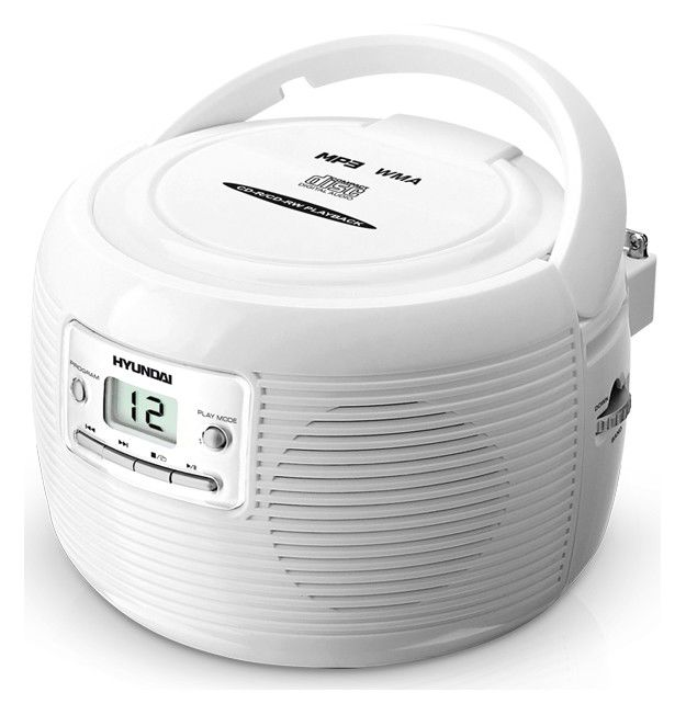 Аудиомагнитола HYUNDAI H-1401,  белый