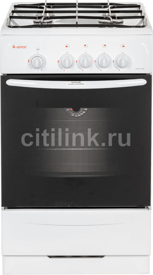Газовая плита GEFEST ПГ 3200-08,  газовая духовка,  белый