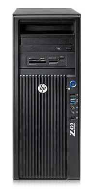Рабочая станция  HP Z420,  Intel  Xeon  E5-1650,  DDR3 8Гб, 1Тб,  DVD-RW,  CR,  Windows 7 Professional,  черный [wm435ea]