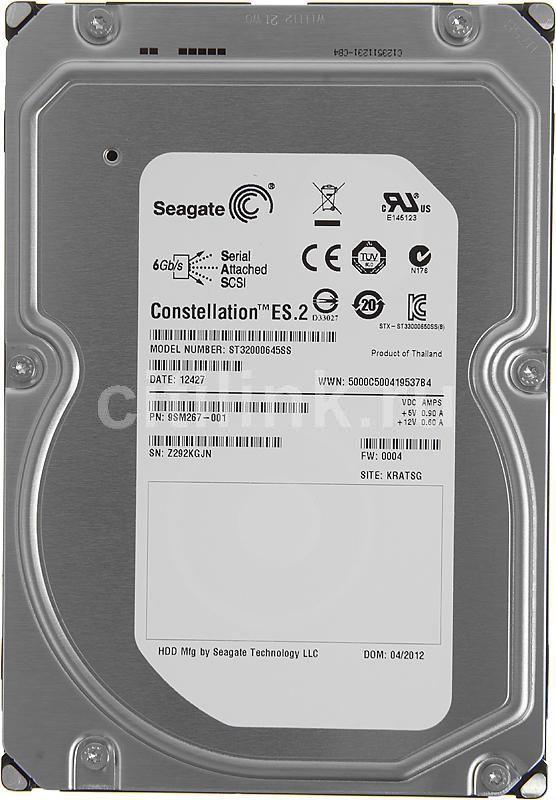 Жесткий диск SEAGATE Constellation ES.2 ST32000645SS,  2Тб,  HDD,  SAS,  3.5