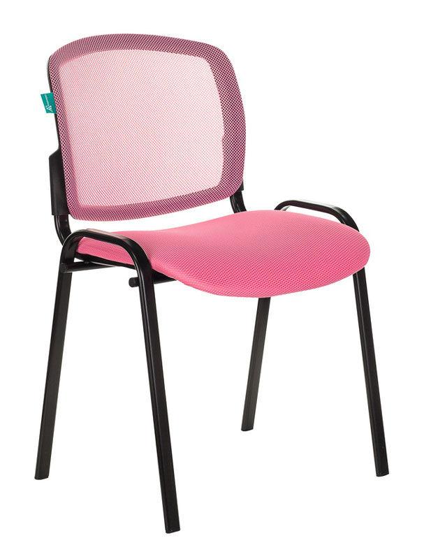 Стул БЮРОКРАТ Вики, на ножках, ткань, розовый [вики/pk/tw-13a]