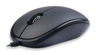 Мышь A4 D-555 оптическая проводная USB, черный