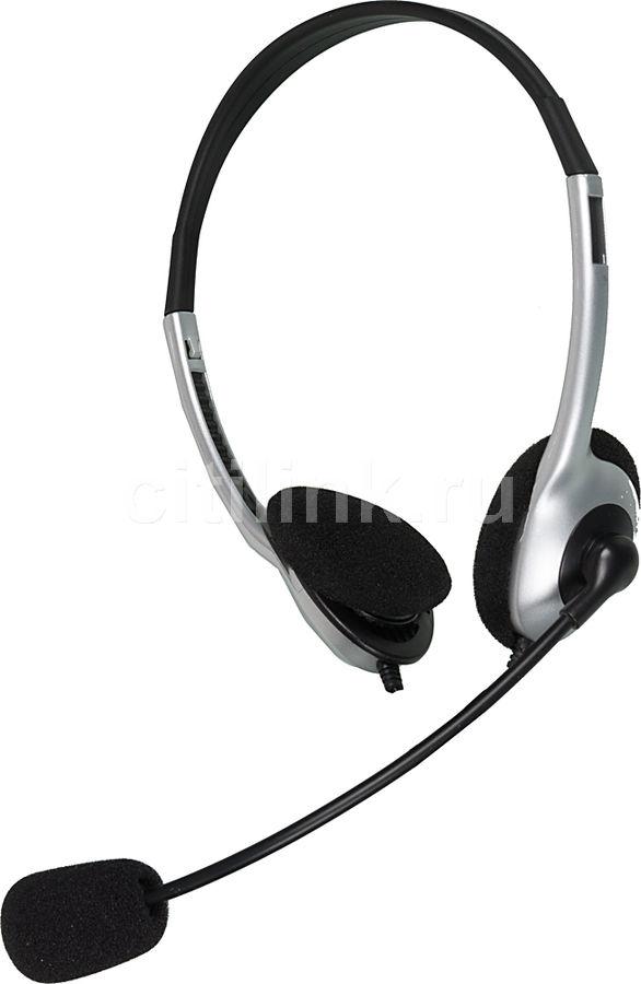 Наушники с микрофоном CREATIVE HS-320,  51EF0520AA001,  накладные, серебристый  / черный