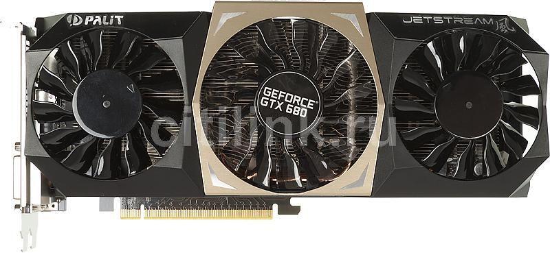 Видеокарта PALIT GeForce GTX 680,  PA-GTX680 JetStream,  2Гб, GDDR5, OC,  Ret [ne5x680h1042-104xj]