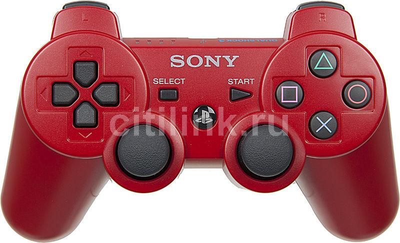 Беспроводной контроллер SONY Dualshock 3, для  PlayStation 3, красный [ps719289111]