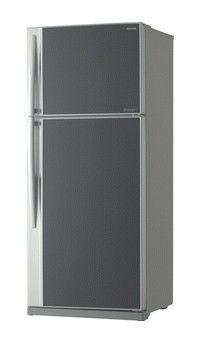 Холодильник TOSHIBA GR-RG74RDA(GB),  двухкамерный,  серое стекло