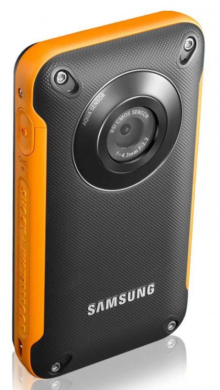 Видеокамера SAMSUNG HMX-W300, черный + оранжевый,  Flash [hmx-w300yp/xer]