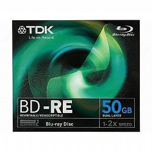Оптический диск BD-RE TDK 50Гб 2x, 5шт., jewel case [t19796]