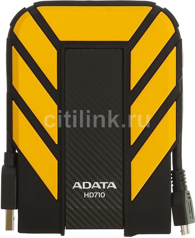 Внешний жесткий диск A-DATA DashDrive Durable HD710, 750Гб, желтый [ahd710-750gu3-cyl]