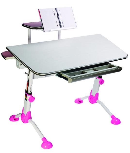 Детский стол  БЮРОКРАТ Conductor-03,  ЛДСП,  молочный и розовый