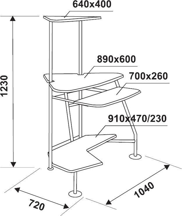 Стол компьютерный  БЮРОКРАТ DL-G09,  угловой,  бук
