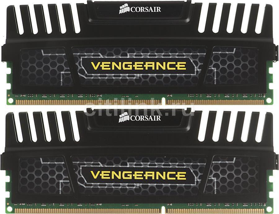 Модуль памяти CORSAIR Vengeance CMZ16GX3M2A1866C10 DDR3 -  2x 8Гб 1866, DIMM,  Ret