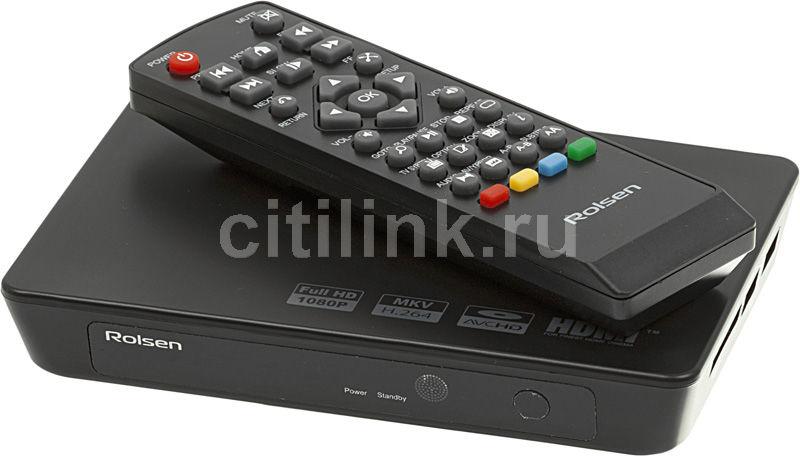 Медиаплеер ROLSEN FHD-M100,  черный