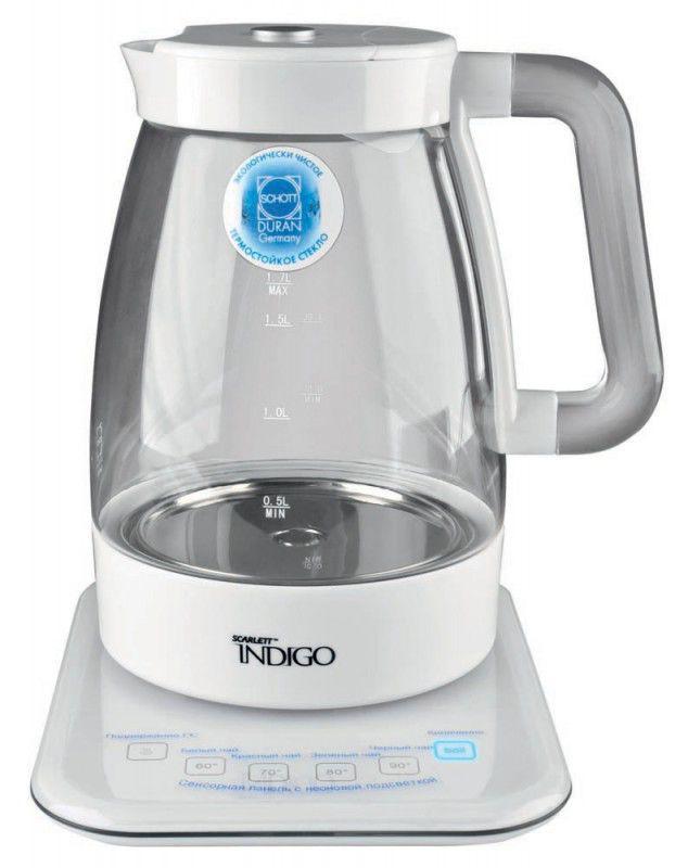 Чайник электрический SCARLETT IS-502, 2200Вт, белый