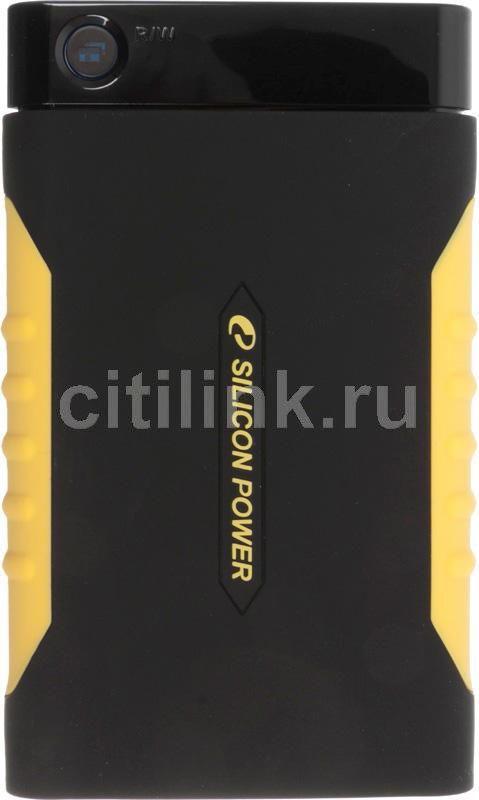 Внешний жесткий диск SILICON POWER Armor A10, 640Гб, черный [sp640gbphda10s2k]