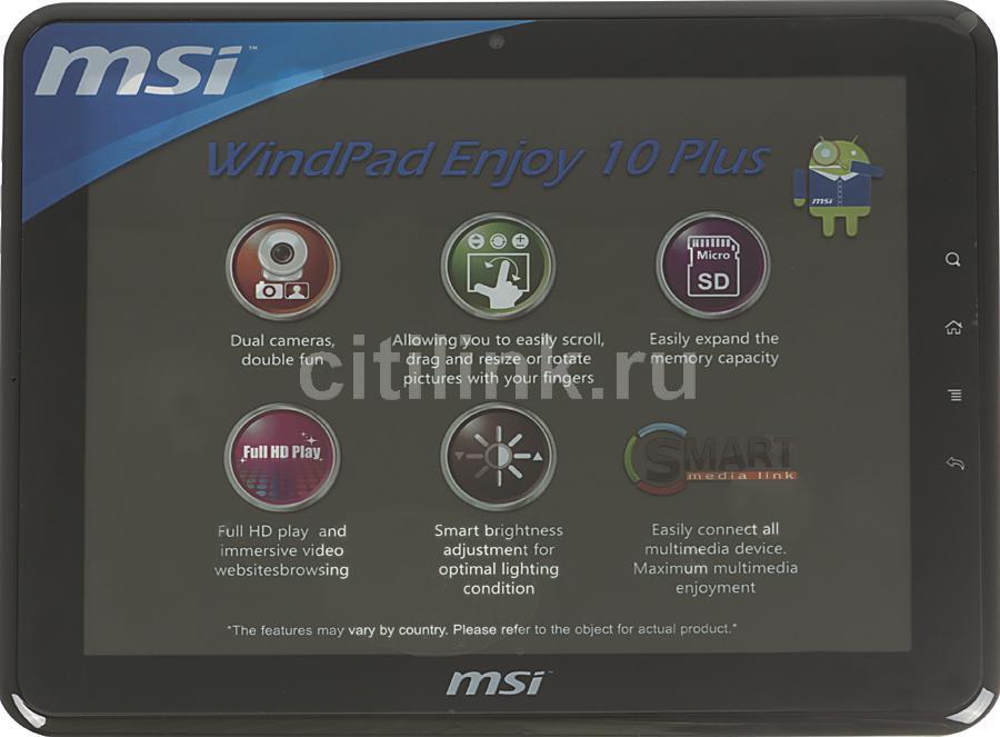 Планшет MSI WindPad Enjoy 10 Plus-007RU,  1GB, 8GB, Android 2.3 черный [9s7n0j111007]