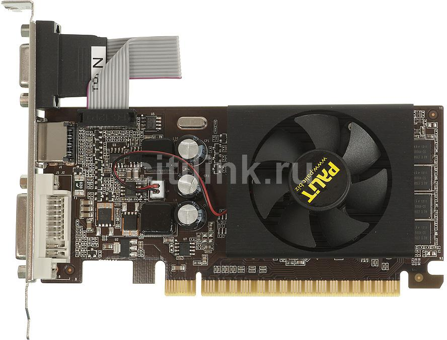 Видеокарта PALIT nVidia GeForce GT 610 , PA-GT610-1GD3, 1Гб, DDR3, Low Profile, oem [neat6100hd06-1196f bulk]