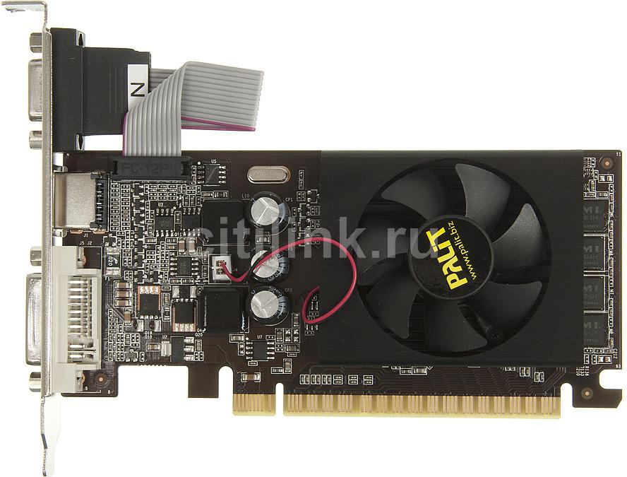 Видеокарта PALIT nVidia  GeForce GT 610 ,  PA-GT610-2GD3,  2Гб, DDR3, Low Profile,  oem [neat6100hd46-1196f bulk]