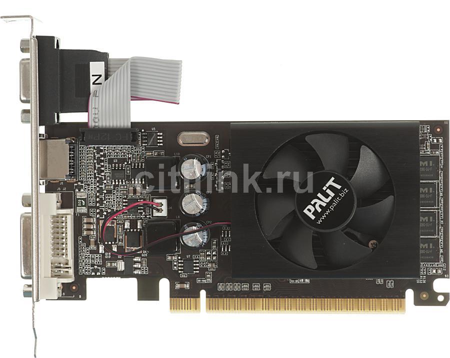 Видеокарта PALIT GeForce GT 610,  PA-GT610-2GD3,  2Гб, DDR3, Low Profile,  Ret [neat6100hd46-1196f]