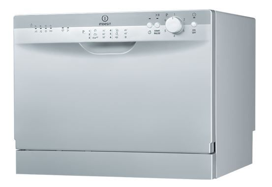 Посудомоечная машина INDESIT ICD 661 S EU,  компактная, серебристая