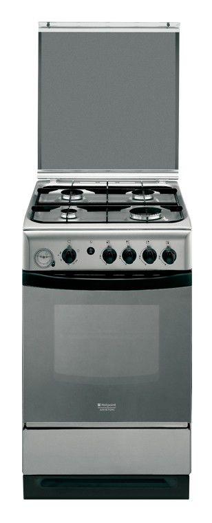 Газовая плита HOTPOINT-ARISTON C34S G37(X),  газовая духовка,  серебристый