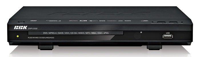 DVD-плеер BBK DVP155SI,  черный