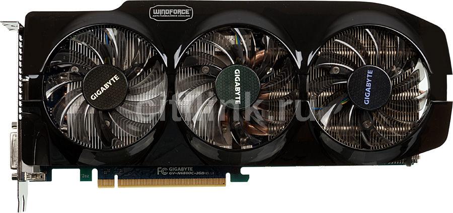 Видеокарта GIGABYTE nVidia  GeForce GTX 680 ,  2Гб, GDDR5, OC,  Ret [gv-n680oc-2gd]