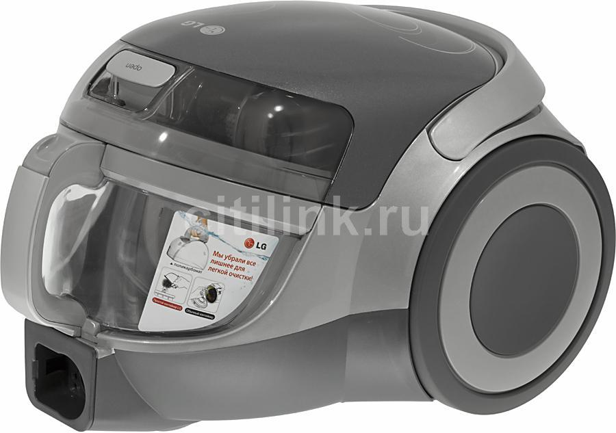 Пылесос LG VK74103HU, 2000Вт, серебристый/черный