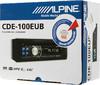 Автомагнитола ALPINE CDE-100EUB,  USB вид 7