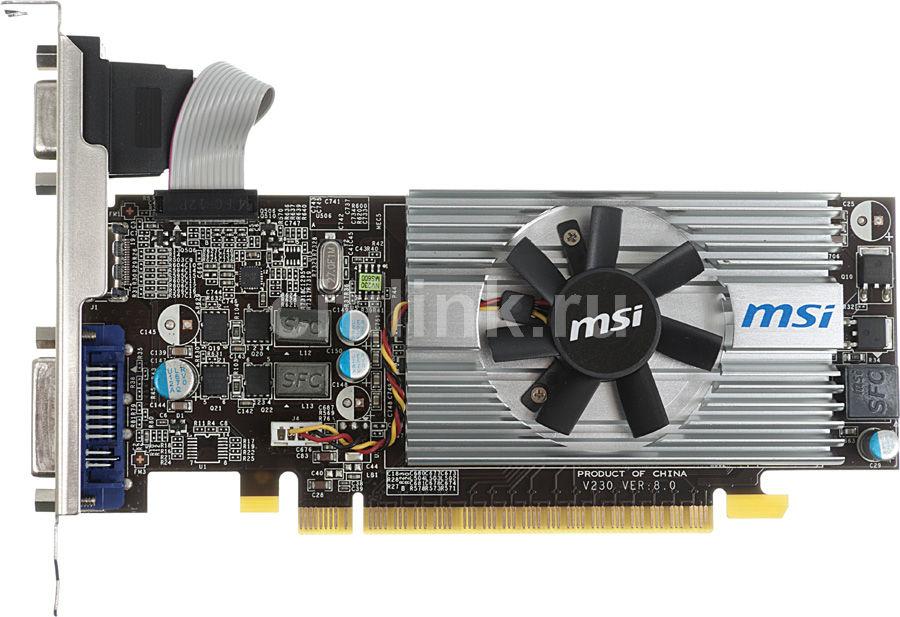 Видеокарта MSI GeForce GT 620,  1Гб, DDR3, Low Profile,  oem [n620gt-md1gd3/lp bulk w/o cd]